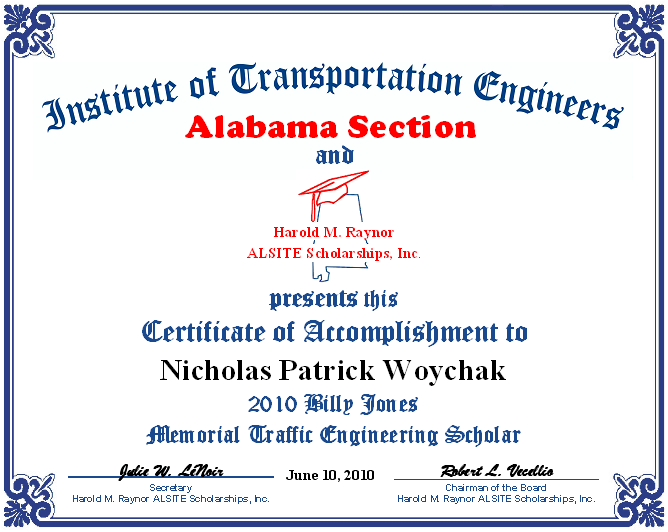 Certificate - Jones